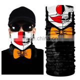 Cool Neck Gaiter Multifunctional Joker Tube Scarf Skull Smoke Face Mask Bandana