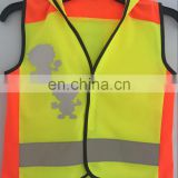 Reflective safety Kid vest With Hood