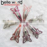 Metal Butterfly Snap Hair Clips with Epoxy Hair Accessories Clip Set