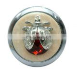 2012 New Design Cz Crystal Top Grade Lady metal pocket fashion wholesale metal mirror