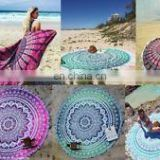 Mandala Roundie Hippie Boho 72' Round Table Cover Yoga Mat Indian Art Wholesale Lot Round Mandala Wall Hanging Beach Towel Throw