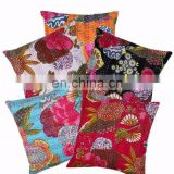 embroidered indian kantha cushion cover pillow case