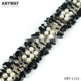 Fashion new design pearl cotton fringe trimming for decorative