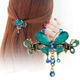 Butterfly Shaped Rhinestone Resin Alloy Hair Claw Hair Accessories PXJA1