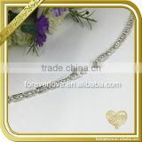 Crystal Craft Clear Rhinestone Trim Hand Chain Aluminum Necklace Bridal Head Chain FC642