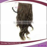 cheap new fashion grey colored ombre clip in curly hair extension