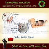 China Health Pocket spring bed company with micro pocket spring for slumberland mattress