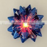 Blue CE ROHS Christmas Star Bows with Fiber Optic and LED Lights FOR EASTER Party Decoration