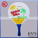 Custom Hot Sale promotion gift TOP QUALITY promotion gift Wooden Beach Tennis Racket /beach paddlewith beach ball set wholesale