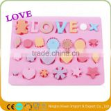 Silicone Ice Pop Mold With Love Letters/Silicone Custom Ice Cube Tray