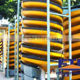 High-level spiral chute for ore beneficiation industry