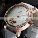 New styles fashion fancy wrist gift lady vogue full stainless steel mechanical watch for women LD135