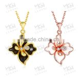 [vogue & fashionable] flower pendant link chain necklace                                                                         Quality Choice