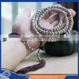 Authentic 8mm Moon & Star Bodhi Seed mala 108 mala beads with tassels