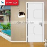 E-TOP white color MDF solid wood plastic composite door