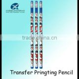 7inch HB heat Transfer printing/printed tattoo transfer pencil office using pencil with eraser for customer printing pencil