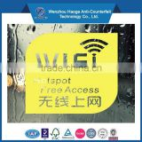 Advertisement wifi fridge decoration sticker & window stickers decals, window decoration decal