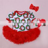 2015 baby christmas clothes baby rompers tutu dress +head band +shoes girls christmas clothing sets SK-18