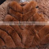 beautiful ladies' fox fur vest