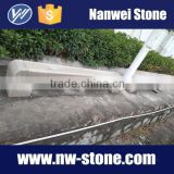 polished red G681 granite long bench in stocks