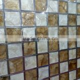High-level square pattern capiz shell panel mix with stainless steel,decorative material