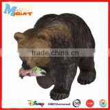 Kids educational new small plastic brown bear statues toy