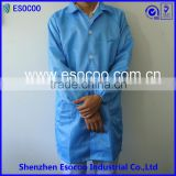 china supplier ESD cleanroom suit in lint free work shop