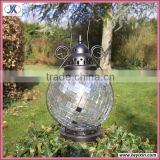 Colorful round turkish glass hanging mosaic tealight lantern lamp with metal stand