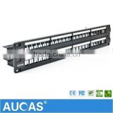 Factory Supply Aucas Panel 48 Port Patch Panel Cable Management For Supply With Hot Price