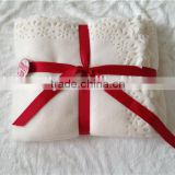 Flame retardant Merry Christmas gift package blanket