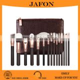 Luxury 15 pieces rose gold private label makeup brush set                                                                         Quality Choice