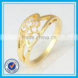 Cheap price zircon gold rings for women fashion turkish jewellery wholesale
