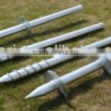 Helical Screw Piles for Foundation of Ground Solar system Photovoltaic Brackets Spiral Post