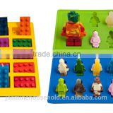 2015 Hot Sell Silicone molds for Jello, chocolate, hard candy, fondant, soap, ice and other Lego creations.