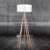 Solid wood natural wooden floor lamp all kinds of timber standing lighting