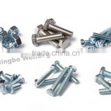 High Strength flange hex bolt m18 with full half thread manufacturers&supplier