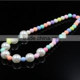 Spring color princess baby handmade diy jewelry ABS pearl necklace