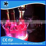 Promotional rechargeable crown led light up champagne ice bucket                                                                         Quality Choice