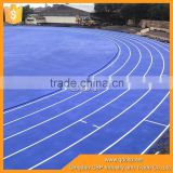 factory supply Red or blue color running track ,13mm synthetic rubber running track
