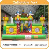 Cheap PVC inflatable clown playground for kids inflatable amusement park fun city for sale