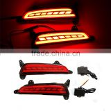 12v four lines IX25 rear bumper reflector light led tail lights for Hyundai brake lamp with tuning light