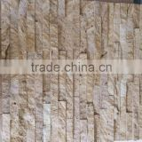 yellow travertine CS046 natural stone exterior wall tile cladding tiles/stacked ledge stone