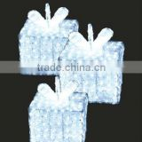 Snow color LED crystal sculpture gift boxes