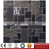 IMARK Electroplated Color Glass Mix Ceramic Mosaic Tiles (IXGC8-088) for back splash mosaic wall art
