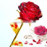 Beautiful Red Crystal Rose Flower for Wedding Favors Crystal Gifts