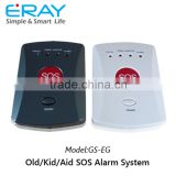 Personal GSM alarm wireless panic button alarm system with a big SOS button on the panel.