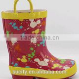 rain gum boots for children with loop wellie boots manufacturer european style wellingtons boots