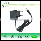 ShenZhen LvXiang 5V1A New AC 100V-240V Converter Adapter DC 5V 1A 1000mA Power Supply EU Plug DC 5.5mm x 2.1mm