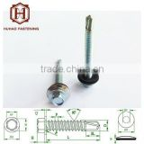 galvanized self-drilling screw hex flange head with washer wood screw decorative screw drill furniture fastener screw
