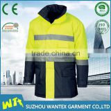 alibaba wholesale waterproof 100% polyester winter jacket reflective working man jacket with reflective tape